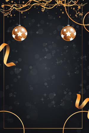 minimalist ribbon christmas card