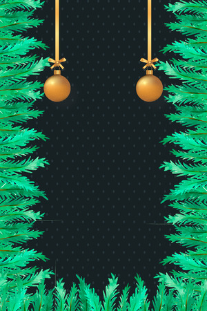 gold hanging accesories christmas card