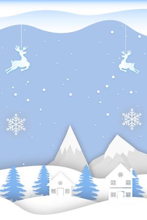 Blue Christmas card Stock Photo