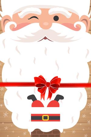 beautiful Christmas cards Santa characters
