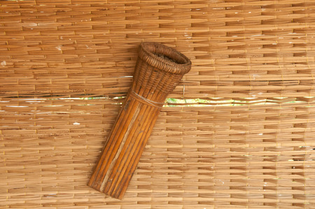 sheath: Sheath knife may weave of bamboo or rattan Stock Photo
