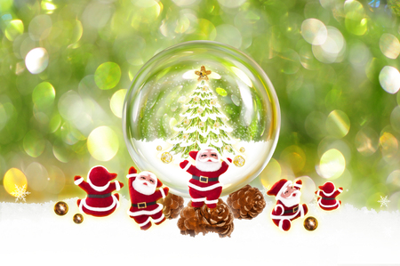 festive: Christmas and Santa Claus with festive decoration