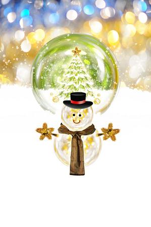 festive: Christmas snowman with festive decoration