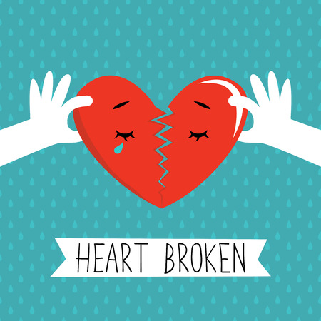 illustration of heart being ripped out