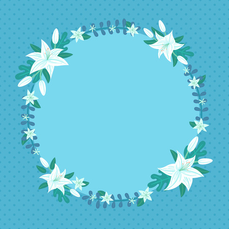 illustration of lily wreath perfect for card postcard invitation and more Illustration