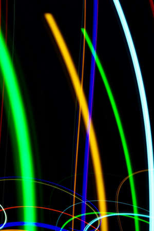 Abstract minimalist light traces produced by slow shutter speed