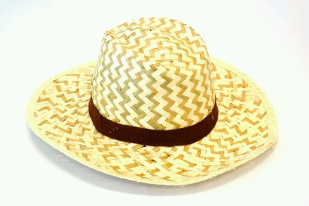 clothing: A hat made of bamboo