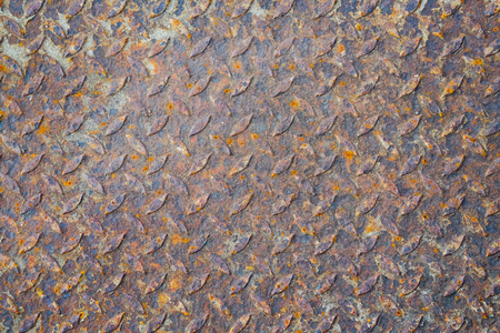 Rusty metal texture background for interior, exterior or industrial construction concept design. Old metal vintage texture for background. Reklamní fotografie