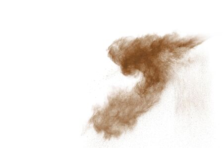 Coffee explosion isolated on white background