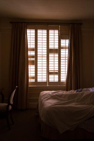 window shade: Hotel Room