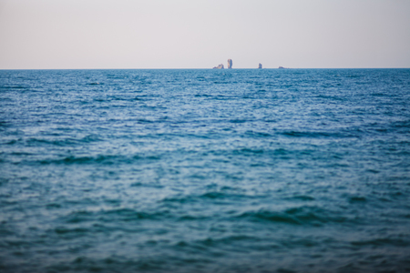 Blue sea background. Great blue sea in the photo