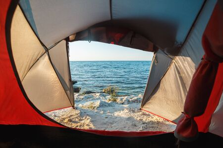 View from the tent to the sea