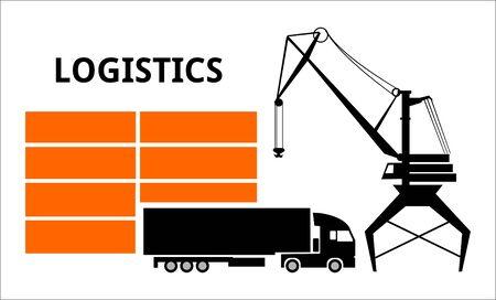 logistics transportations, loading, unloading, movement, truck cargo transport Banque d'images - 133177308