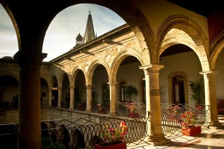 guadalajara: Spanish terrotiral governor s palace in old Guadalajara Mexico