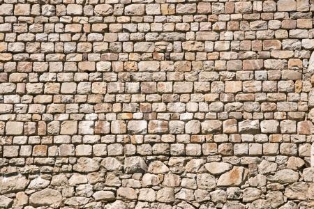 Rock patronen op een kasteel muur