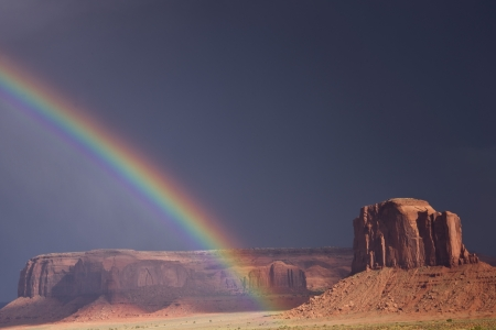 Rainbow Over Canyon Country at Monument Valley photo