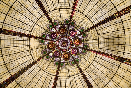 View of geometric patterns of a glass rotunda, Las Vegas, Nevada Stock Photo - 14953449