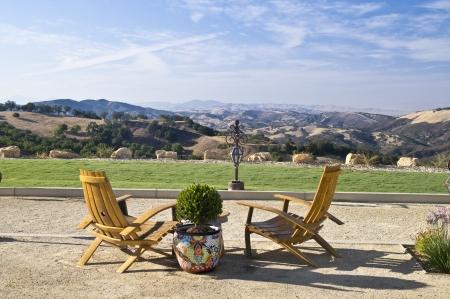 invitando: Una vista de invitaci�n de los hils de rodadura de Paso Robles famosa regi�n vin�cola de California