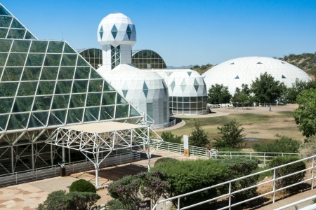 colonization: Ultramodern architecture at Biosphere 2 where scientists study the potential for space colonization inside a sealed environment  Editorial