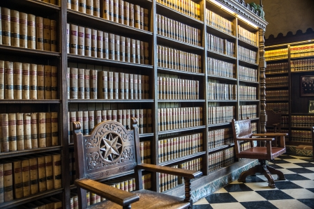courtroom: The public law library at Santa Barbara City Hall in California