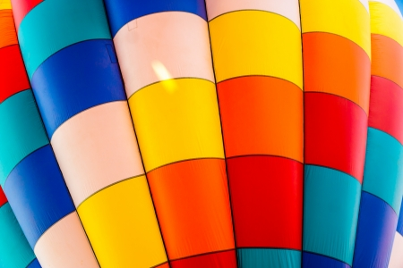 hot air balloons festival: Colorful patterns of a hot air balloon Stock Photo