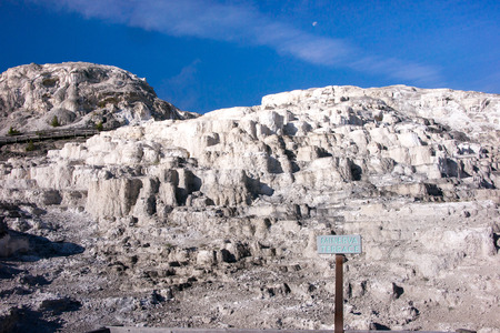 minerva: Minerva Terrace is a section of the larger Mammoth Hot Springs in Yellowstone Park. Stock Photo