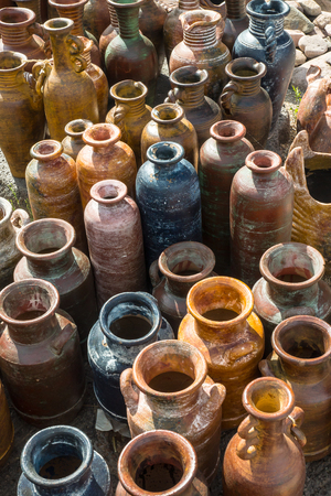 Traditional rustic Mexican clay pottery
