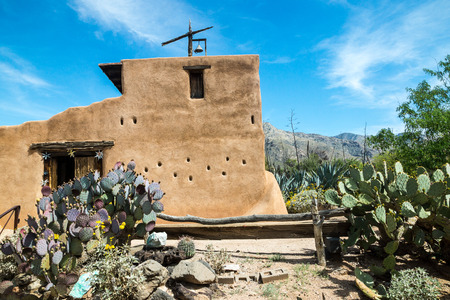 deceased: The historic district preserving the home and studio of deceased artist Ted DeGrazia in Tucson, Arizona. Stock Photo