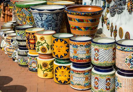Traditional Mexican folk art ceramics