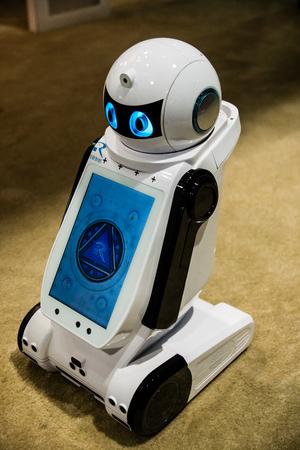 Las Vegas, NV -  Jan. 8, 2016: Reeman Robotics displays its child-friendly robot at the Consumer Electronics Show CES. Sajtókép