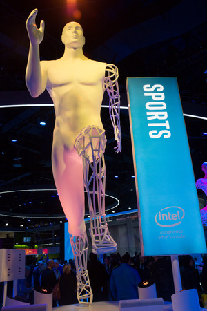 intel: Las Vegas, NV -  Jan. 8, 2016:  The large Intel exhibit at CES 2016 reinforces that within most of the innovative products on display at the worlds largest trade show are increasingly powerful semiconductors bringing advances to peoples lives. Editorial