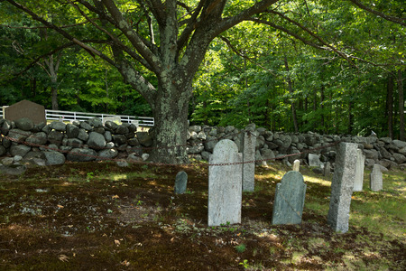 A New England graveyard evokes thoughts of ghosts and goblins soon to be haunting the nether regions.