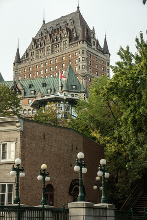 Quebec City, Quebec, Canada - Sept. 9, 2015; Designed by American architect Bruce price, the historic hotel is a Canadian landmark in Quebec City, overlooking the St. Lawrence river.