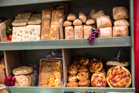 Artisan Tuscan style breads and rolls.