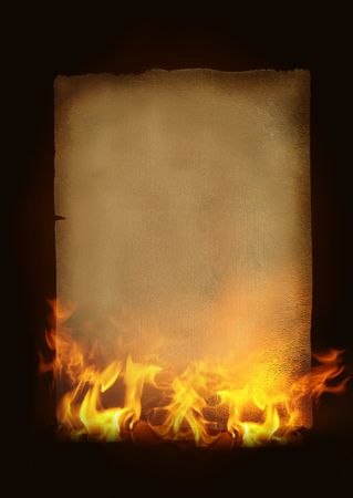Vintage Paper withhot  flames and fire photo