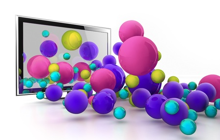 Future 3D TV Stock Photo - 9090682