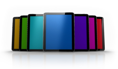 Digital pad tables of different colors photo