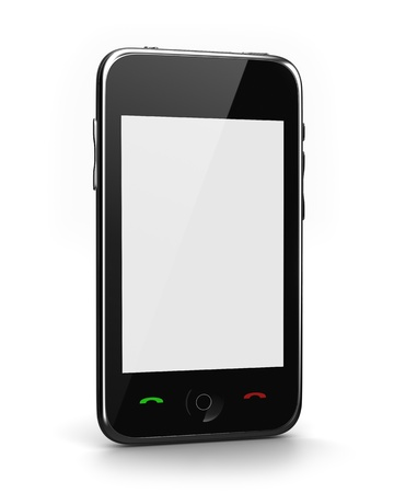mobile app: Phone with blank screen for your message