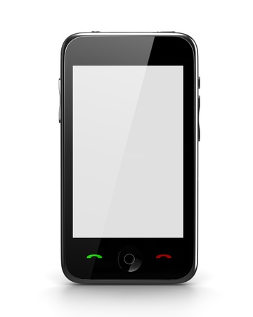 Touch Phone with blank screen front view Stock Photo - 9162808