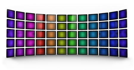 Presentation wall - coloured photo