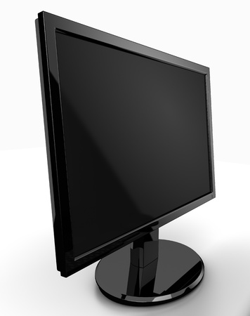 plasma monitor: LCD monitor isolated