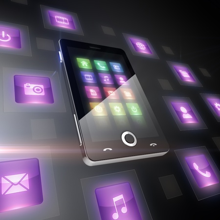 touch screen phone: Multimedia icons