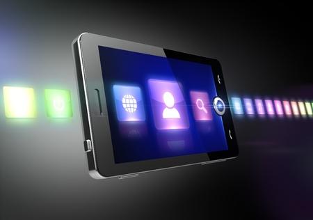 Multimedia wireless concept photo