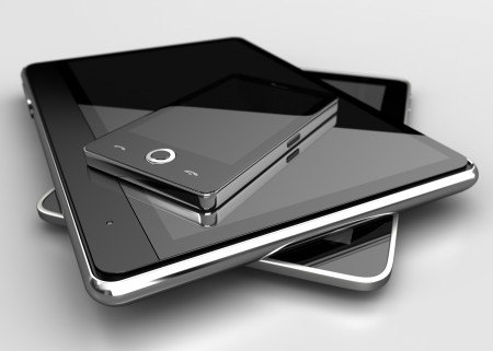 portable information device: Mobile phone with digital tablets