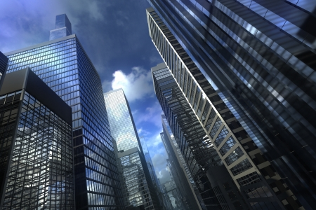 Modern city building with dramatic sky Stock Photo - 15095854