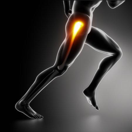 physical injury: Sports hip injury koncept