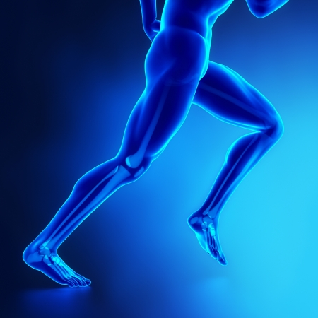 tibia: Running man Stock Photo
