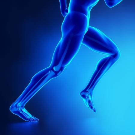 tendon: Running man Stock Photo