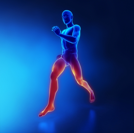 hamstring: Fatigue, Exhaustion and Muscle Weakness concept Stock Photo