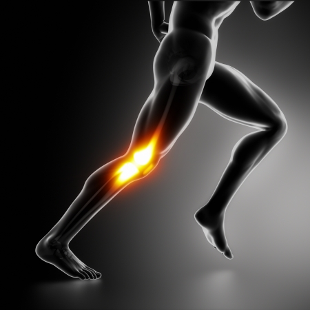 Sports Knee pain concept photo